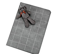 Grid Pattern with Cute Rabbit PU Leather with Stand Smart Case for iPad Mini 4(Assorted Colors)