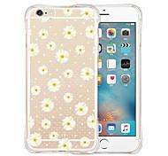 flores parte traseira do silicone caso macio transparente para iphone 6 / 6s (cores sortidas)