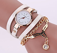 Women's Bracelet Watch Ms. Explosion Models Ladies Watches PU Band Eagle Pendant(Assorted Colors)