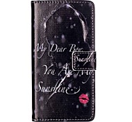 Lipstick Relief Painted PU Phone Case for Huawei P9 Lite/P9