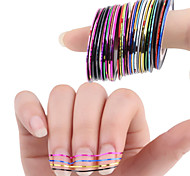 30 Colors Rolls Striping Tape Line Nail Art Sticker Tools Beauty Decorations