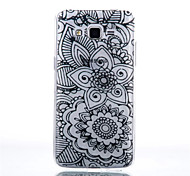 Five Flower Pattern Black Printing Transparent TPU Material Phone Case for Samsung Galaxy G360/G530