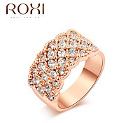 Ring Fashion Wedding / Office & Career Jewelry Alloy Women Statement Rings 1pc,One Size Gold