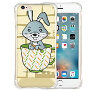 Rabbit in Cup Soft Transparent Silicone Back Case for iPhone 6/6s (Assorted Colors)