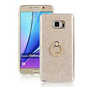 Voor Samsung Galaxy Note Ringhouder hoesje Achterkantje hoesje Kleurgradatie TPU Samsung Note 5 / Note 4 / Note 3