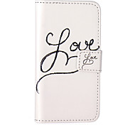 Love Pattern Embossed PU Leather Case for iPhone 5/iPhone 5S/iPhone SE