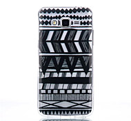 Stripe Pattern Black Printing Transparent TPU Material Phone Case for Samsung Galaxy G360/G530
