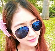 Gafas de Sol Unisex'sClásico / Elegant / Modern / Moda / Estilo de gafas de sol Anti-UV Ovalada Dorado Gafas de Sol Completo llanta