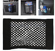 ZIQIAO Universal Car Seat Back Storage Elastic Mesh Net Bag Luggage Holder Pocket Sticker Strong Magic Tape Accessories