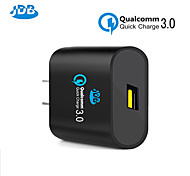 [Qualcomm Certified] JDB Quick Charge 3.0 24W USB Wall Charger For iPhone Samsung Note + Data Cable