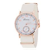 La montre-bracelet de dames rose regarder anneau plaque or blanc mode genève britannique quartz vent de ceinture (couleurs assorties)
