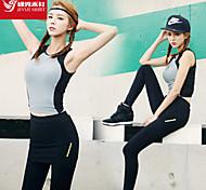 Per donna Canotte Sport Traspirante / Morbido Grigio S / M / L / XL Yoga / Pilates / Fitness / Corsa-Altro