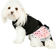 Dog Dress Black / Green / Pink Winter / Summer / Spring/Fall Pearl / Stars Fashion