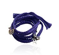 Fashion Drill Star Leaves Letter Adjustable Bracelet
