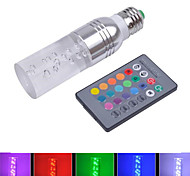 HRY® 3W RGB E27 Standard Screw Base 16 Colors ChangingLED Crystal Light Bulb with IR Remote Control(85-265V)