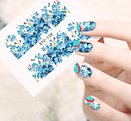 1sheets Full Cover Tips Nails Beauty Flowers Nail Art Decals Foils Wraps Nail Water Transfer Stickers Manicure Accessory