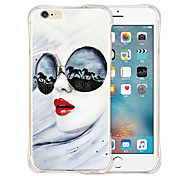 Women of Fashion Soft Transparent Silicone Back Case for iPhone 6 Plus/6s Plus(Assorted Colors)