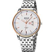 Men's Japanese Quartz Silver Steel Band Water Resistant Calendar Dress Watch Jewelry