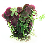 Artificial Lotus Leaves Plant Grass Fish Tank Aquarium Decoration Pink