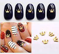 50pcs New Gold Metal Charm Crown Design Nail Art Studs DIY 3d Nail Jewelry Accessories Beauty Nail Decoations