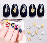 50pcs New Gold Silver Alloy Rhinestone Cute Design Nail Decorations