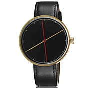 Unisex Fashion Watch The New Minimalist Fashion Plate Leather Belt Quartz Watch Men Women Genera (Assorted Colors)