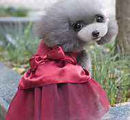 Hunde Kleider Rot / Blau / Rosa / Gold Sommer / Frühling/Herbst Schleife / KlassischHochzeit / Geburtstag / Weihnachten / Neujahr /