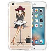 favoritos de la reina de casos de silicona transparente trasero suave para el iPhone 5 / 5s (varios colores)
