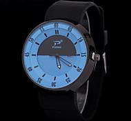 Mulheres Relógio de Moda Quartz Silicone Banda Preta marca-