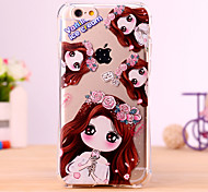 Little Girl Holding Flowers Design Cover for IPhone 6 Iphone6S