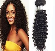 8-26inch capelli vergini intenso colore nero naturale riccio brasiliano, capelli brasiliani a buon mercato capelli umani grezzi tesse.