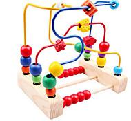 деревянные бусы вокруг трех игрушечной линии вокруг шарика рамы детские игрушки для детей цветок классический плюшевый