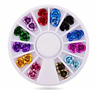 Цветы-Стразы для ногтей-1wheel rose nail decorations-6cm wheel-Акрил-Пальцы рук