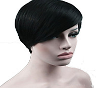 Fashion Black 1B Color Short Straight Woman's Synthetic Wigs Hair