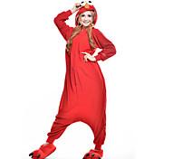 Kigurumi Pijamas New Cosplay® / Desenhos Animados / Monster Malha Collant/Pijama Macacão Festival/Celebração Pijamas Animal Vermelho
