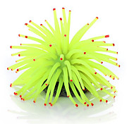Aquarium Fish Tank Artificial Sea Anemone Ornament Yellow