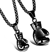 Lovers High Polishing Boxing Gloves Pendant Necklace 1pc