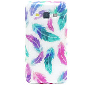 For Samsung Galaxy Case Pattern Case Back Cover Case Feathers TPU Samsung A5 / A3