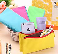 Bolsas de Papelaria-Verde / Azul / Amarelo- deTéxtil-Fofinho / Negócio / Multifuncional