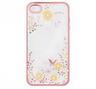 Apple iPhone 6 más / 6s, además de la cubierta de TPU suave secreto jardín de flores de diamantes de mariposa