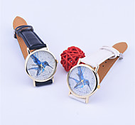 New Design blue woodpecker painting watches for ladies Women Leather Sport Quartz Wrist Watches Quartz fashion Watch