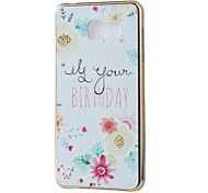 Birthday Mirror Surface Relief Frame TPU for Samsung A7(2016)