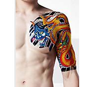 Тело макияж левое плечо временные татуировки наклейки (2 шт)