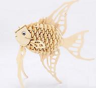 bois modèle angelfish 3d puzzles jouets bricolage
