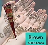 naturali a base di erbe coni henné tatuaggio temporaneo inchiostro kit body art mehandi Afrin