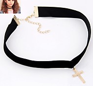 European Cross Alloy Necklace Choker Necklaces / Gothic Jewelry Party 1pc