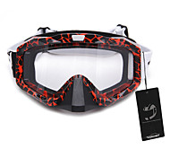 Motorcycle Motocross Ski Protective Glasses Goggle With Nose Guard Orange Red