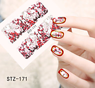 1pcs  Water Transfer Nail Art Stickers Paris Iron Tower  Lady Beautiful  Flower Nail Art Design STZ171-175