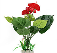 Plastic Artificial Flower Plant Fish Tank Pond Aquarium Decoration