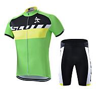 Set di vestiti/Completi-Ciclismo-unisex-Maniche corte-Asciugatura rapida / Anti-polvere / Antivento / Morbido / Materiali leggeri / Pad 3D